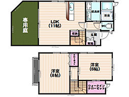 メゾネット桜町[2階]の間取り