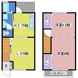 [タウンハウス] 兵庫県神戸市西区王塚台2丁目 の賃貸【兵庫県 / 神戸市西区】の間取り