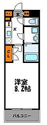 アクタス桜坂レノア[9階]の間取り
