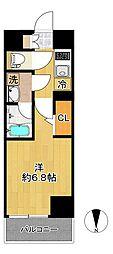 SHOKEN Residence新丸子 8階1Kの間取り