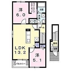 アバンツァーレ[2階]の間取り