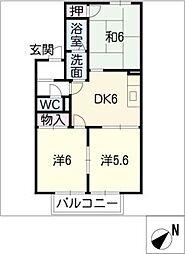 フレグランス中平A棟[1階]の間取り