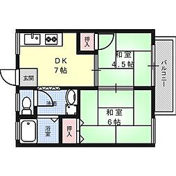 ハイツシャローム[1階]の間取り