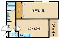 RESIDENCIAL PASSEIO 柏原堅下[3階]の間取り