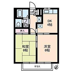 エステートピア・u6号棟[1階]の間取り