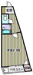 ラ・フォーレ梅北[4階]の間取り