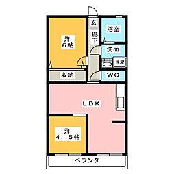 宮の下マンションB506[5階]の間取り