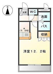 トリュイート[2階]の間取り
