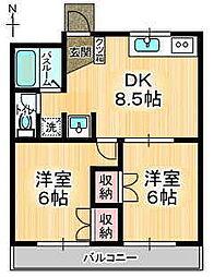 サンハイツ田中I[2階]の間取り