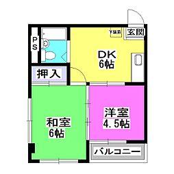 レジデンス新堀[2階]の間取り
