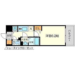 メインステージ新大阪[8階]の間取り