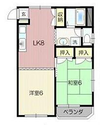沖田ハイツ[3階]の間取り