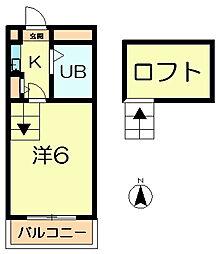シティパレス富雄元町P-3[2階]の間取り
