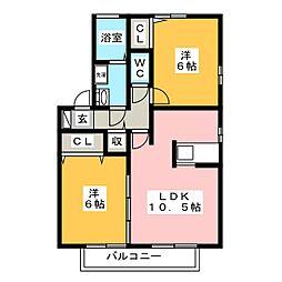 ガーデンスクエアA[2階]の間取り