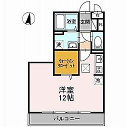 Comodo Gione B棟[3階]の間取り