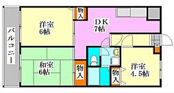 メゾンドール・カムイベータ館[4階]の間取り