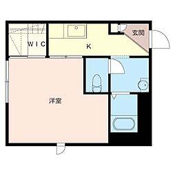 ブルーミング[3階]の間取り