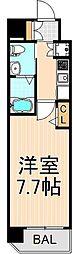 東京都台東区元浅草4丁目の賃貸マンションの間取り