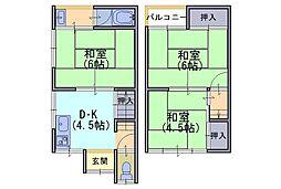 [一戸建] 京都府長岡京市調子1丁目 の賃貸【/】の間取り