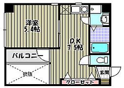 ハイネスセンターコート[7階]の間取り
