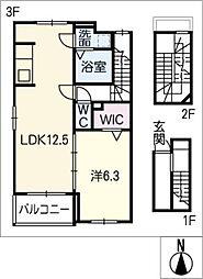サニー和泉[3階]の間取り