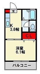 クレアール青山[2階]の間取り