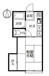 サニー元町II[103号室]の間取り