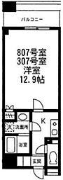 神奈川県横浜市中区元浜町4丁目の賃貸マンションの間取り