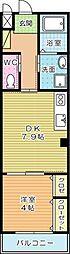 CIEL・BLEU(シエルブルー)A[202号室]の間取り