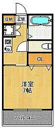 兵庫県宝塚市高司1丁目の賃貸マンションの間取り
