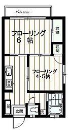 ハイツ金子[203号室]の間取り