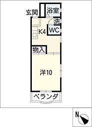 オーク仲田マンション[3階]の間取り