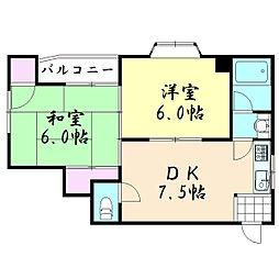 MKマンション玉津4[201号室]の間取り