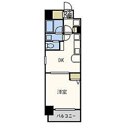 エステムコート心斎橋イーストIIラヴァンツァ[14階]の間取り