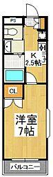 チャールストンハウス[2階]の間取り