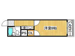 ハイツメルヘン[4階]の間取り