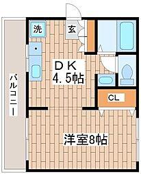 兵庫県神戸市長田区鶯町3丁目の賃貸マンションの間取り