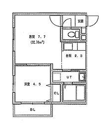 仮)北14条東1丁目MS[201号室]の間取り