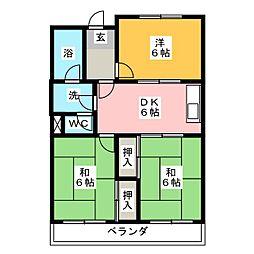 メゾン辻山[1階]の間取り
