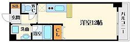 ニッケノーブルハイツ江坂[5階]の間取り