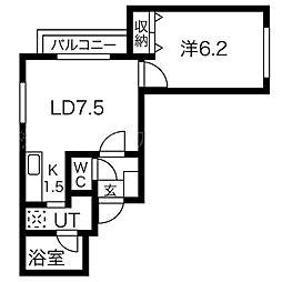 北海道札幌市中央区大通西28丁目の賃貸マンションの間取り