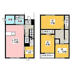 [一戸建] 愛知県名古屋市中川区長良町2丁目 の賃貸【/】の間取り