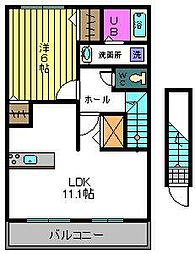 メゾン・オーブ II[2階]の間取り