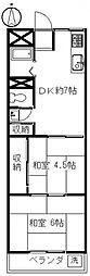 富沢ホワイトコーポA[1階]の間取り