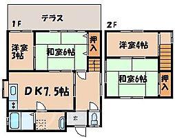 [一戸建] 広島県広島市安芸区船越6丁目 の賃貸【/】の間取り