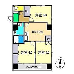 セトルFUJIMOTO[4階]の間取り