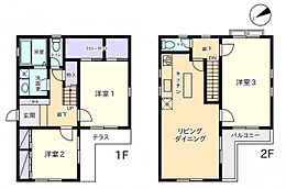 建築基準法第43条第1項但書取得済みプラン (間取図)延床面積:96.02m2