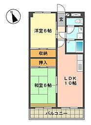 アイリス松井[3階]の間取り
