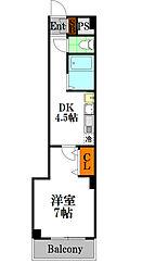 ドエル南船場[10階]の間取り