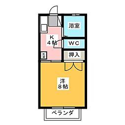 ドミール青笹B[2階]の間取り